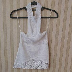 JLO Size S crochet Crop Top